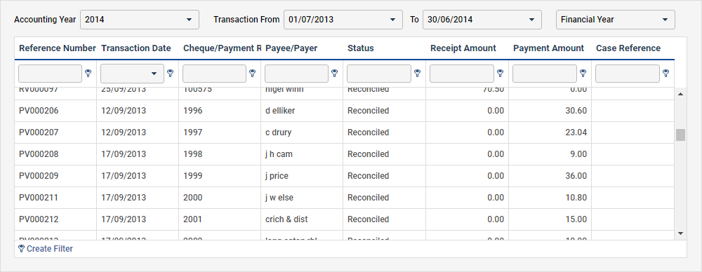 charity accounting software transactions